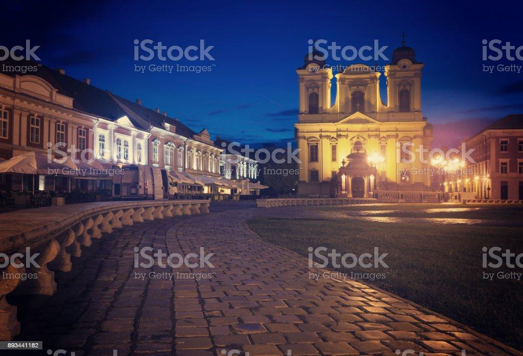 Roman Catholic Dome on Unirii Square, Timisoara stock photo