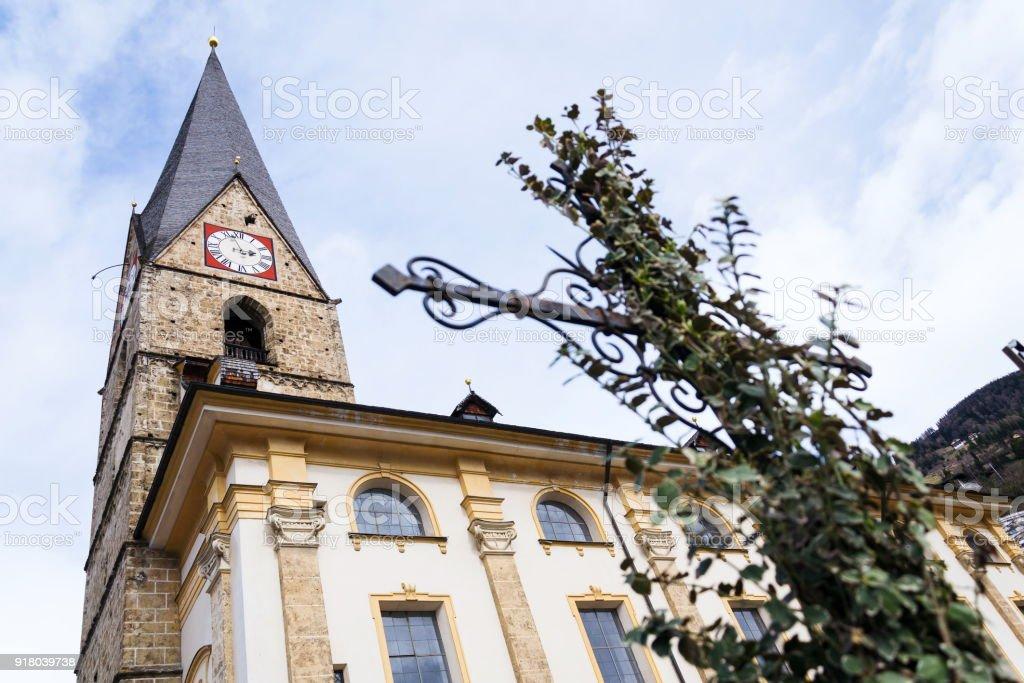 Roman Catholic Pfarrkirche St. Alban in Matrei in Osttirol, Austria stock photo