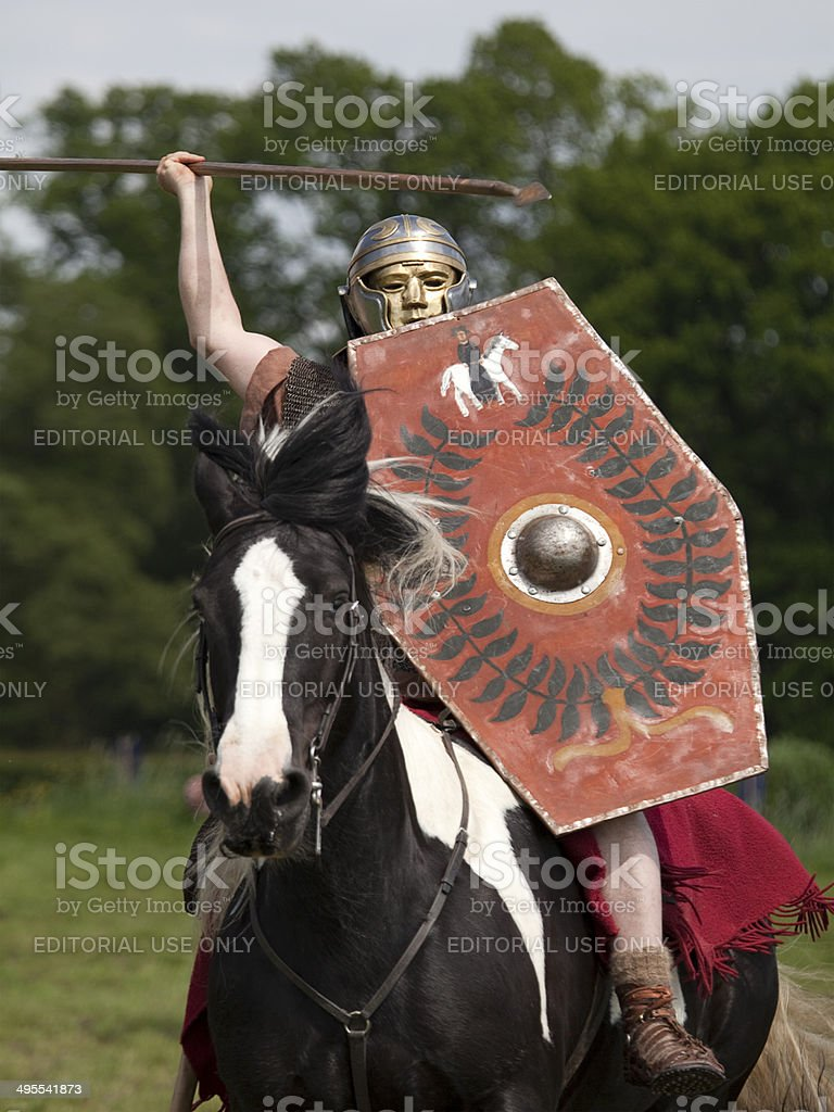 Roman Cavalry Soldier royalty-free stock photo