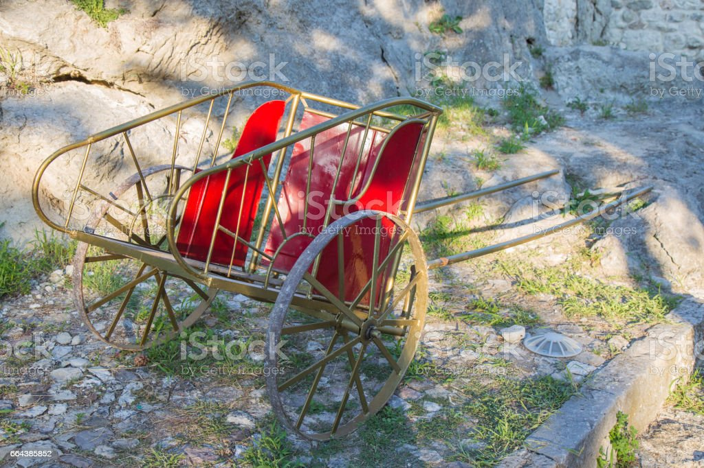 Roman chariot stock photo