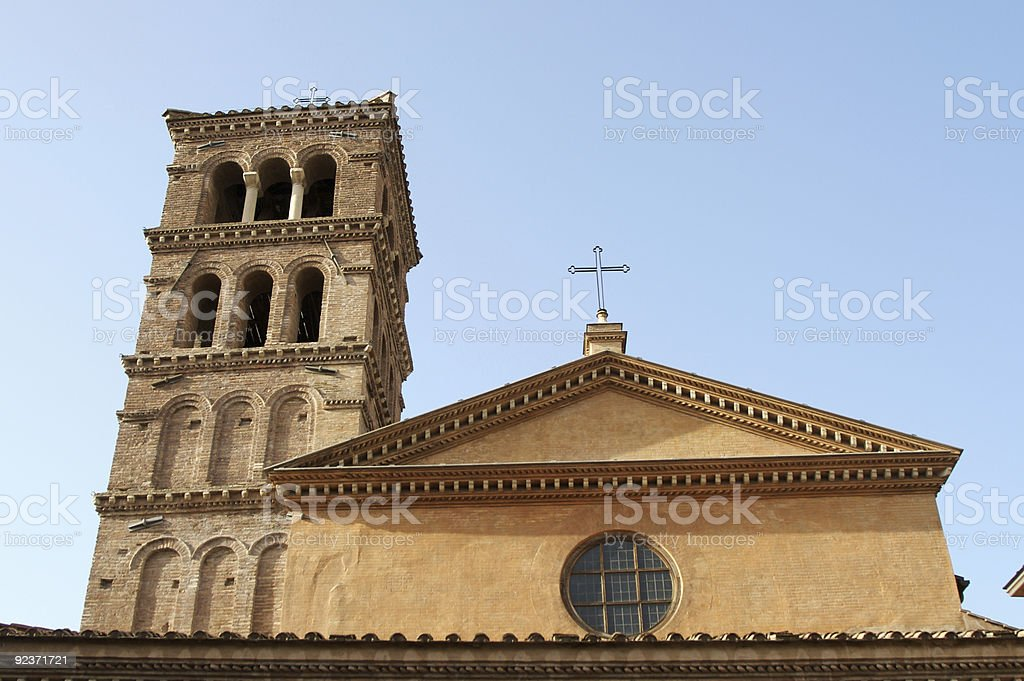 Roman church royalty-free stock photo