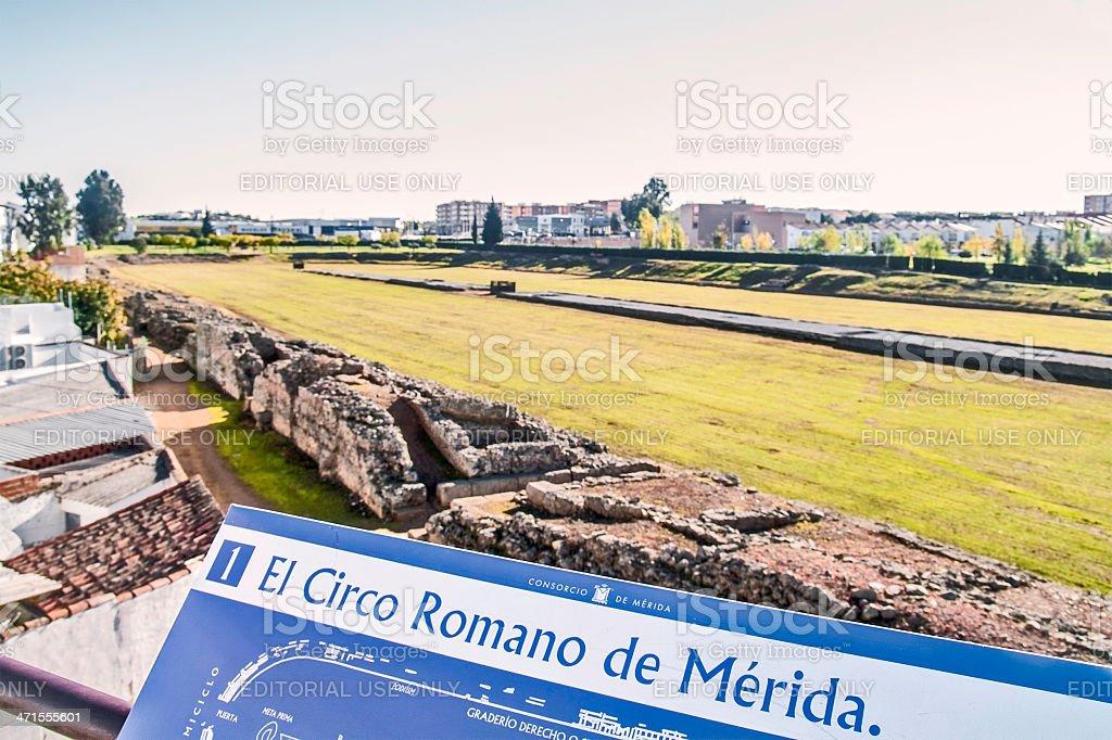 Roman circus ruins stock photo