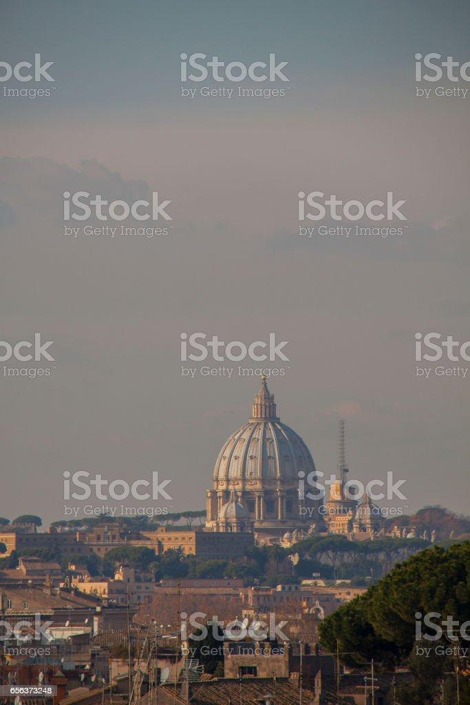 Roman citscape panorama стоковое фото
