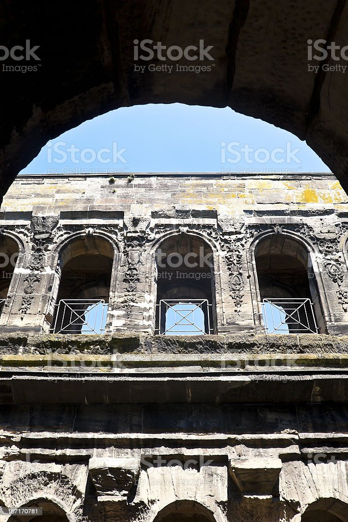 Roman City Gate royalty-free stock photo
