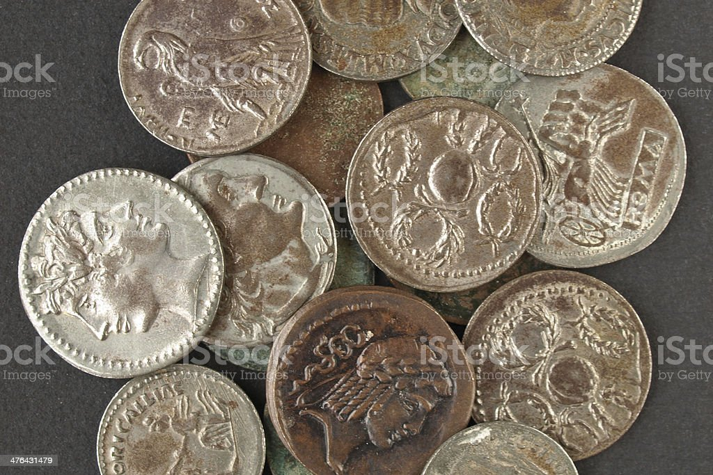 Roman coin royalty-free stock photo