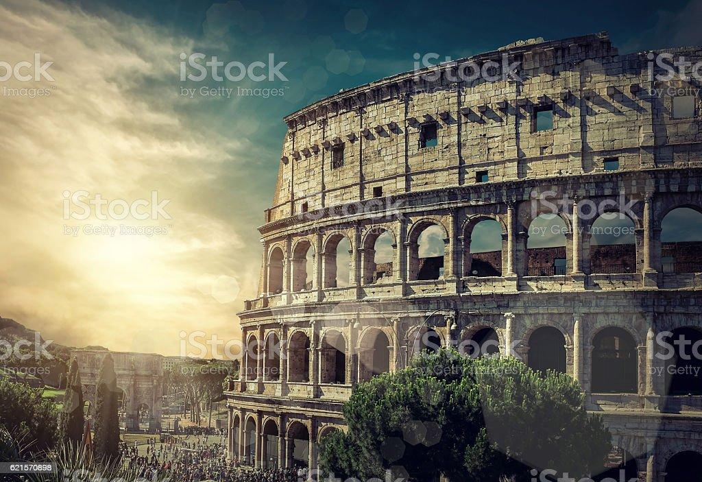 Colisée romain de la célèbre endroit dans le monde du voyage. photo libre de droits