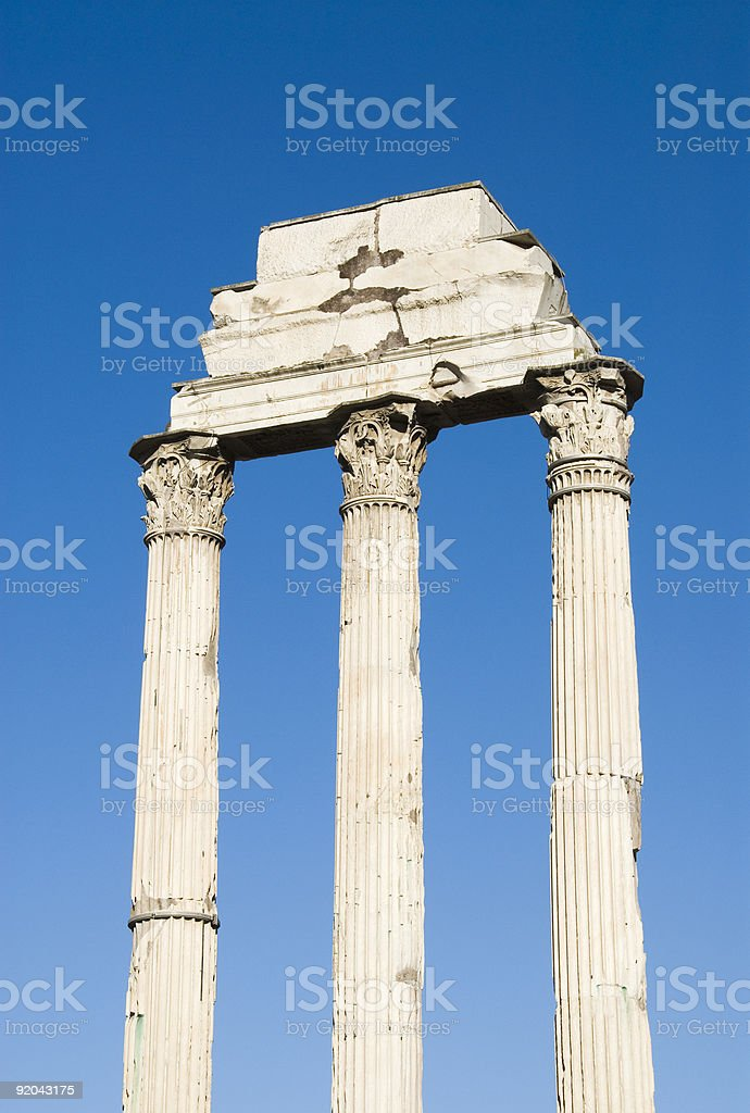 Roman columns stock photo