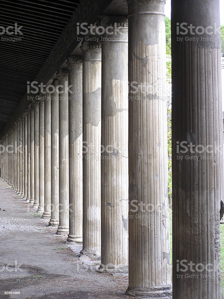 Roman Columns royalty-free stock photo