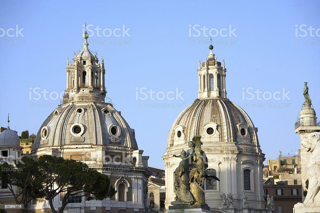 Roman domes royalty-free stock photo