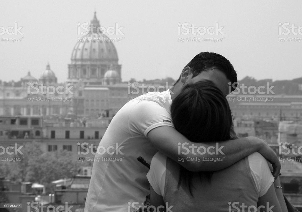 Roman Embrace stock photo
