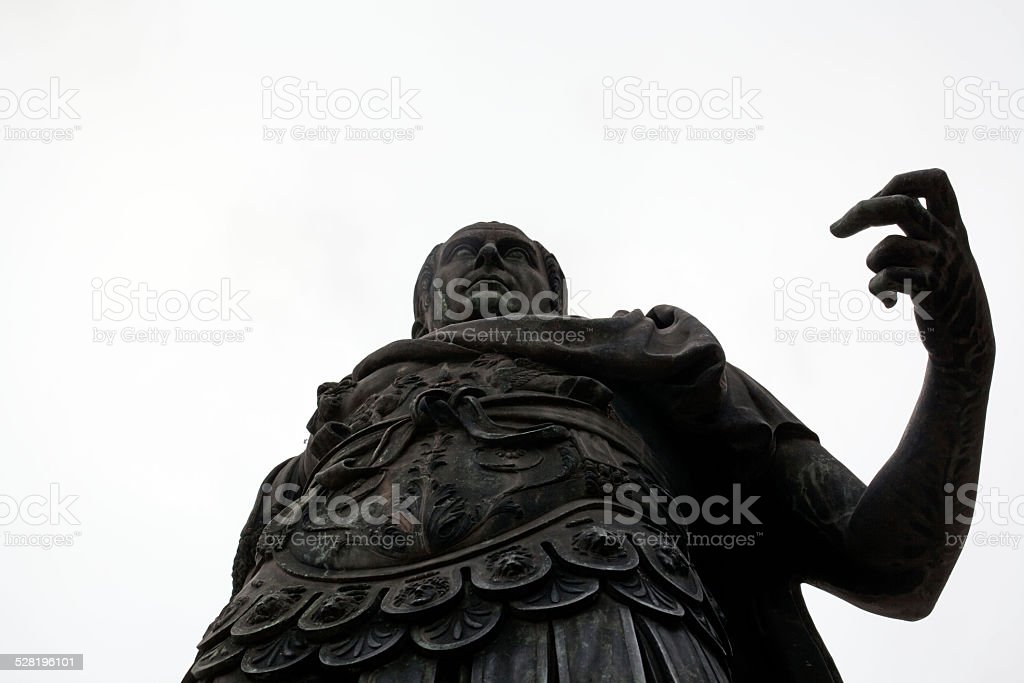 Roman emperor Julius Caesar stock photo