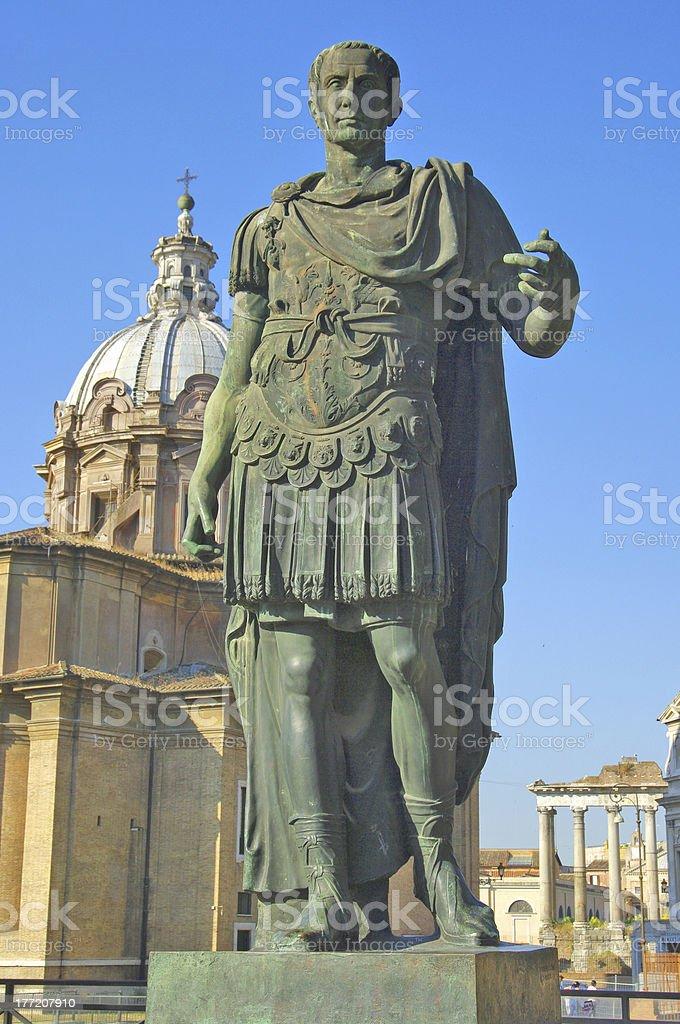 Roman emperor Julius Caesar statue stock photo