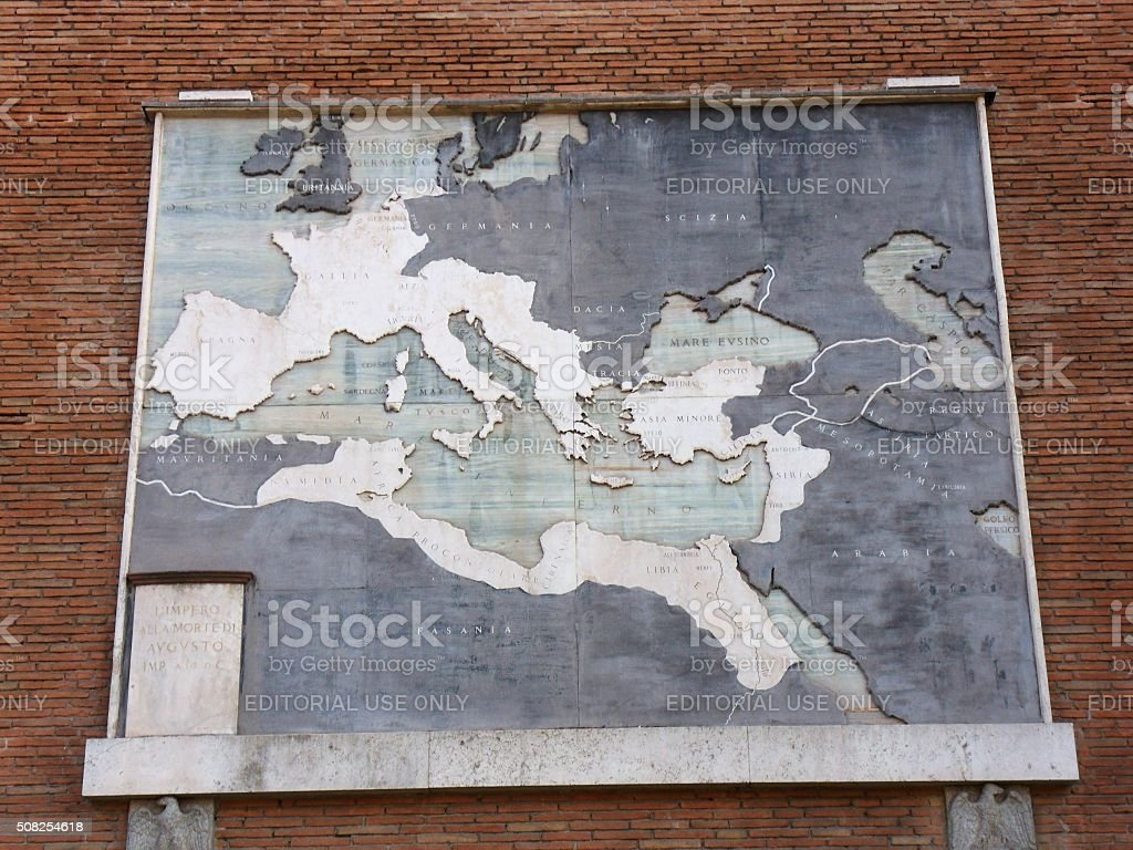 Impero romano alla morte di Augusto stock photo
