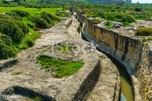 View of a canal, part of a late Roman period water supply system, in Taninim Stream Nature Reserve, Northern Israel