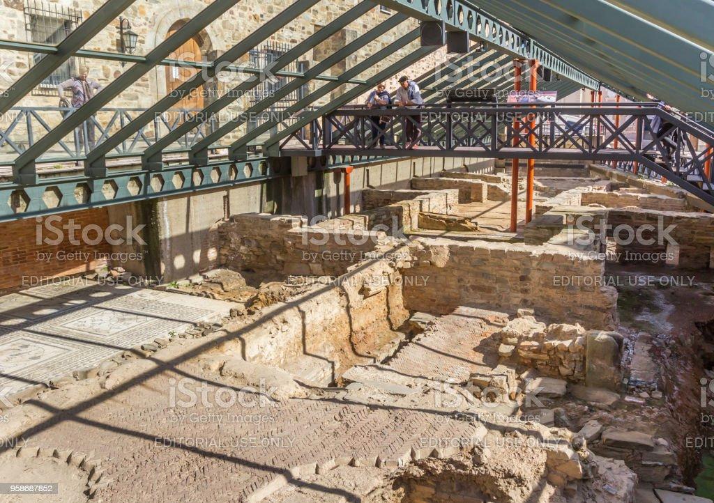 Excavaciones romanas de la Casa Romana de Astorga, España - foto de stock