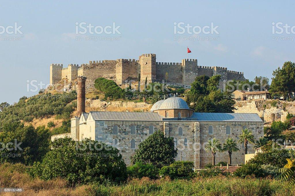 Roman fortress in Selcuk stock photo