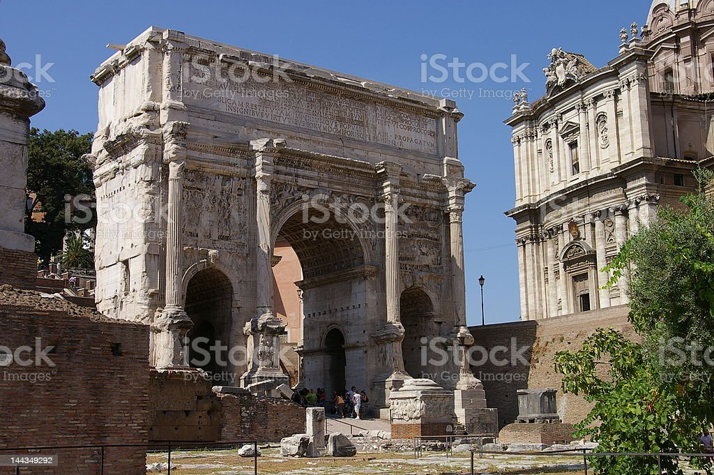 Roman Forum Arc stock photo