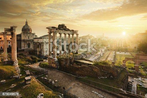 Ancient ruins in Rome, Lazio, Italy