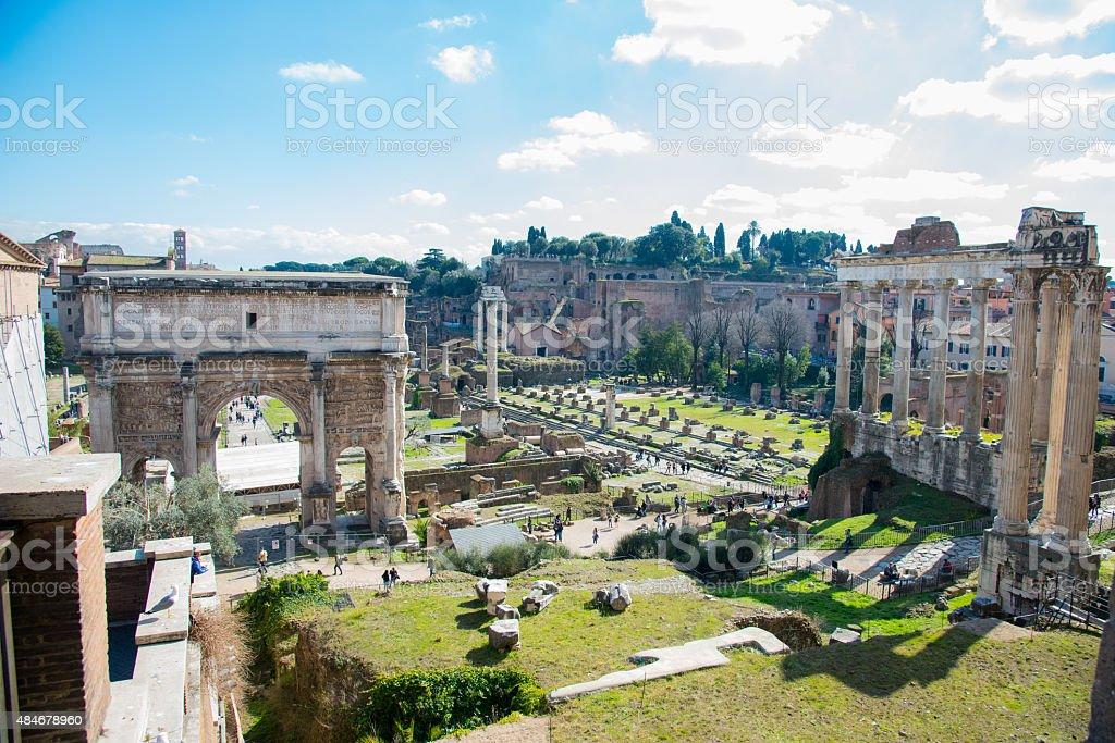 Fórum Romano em Roma, Itália - foto de acervo