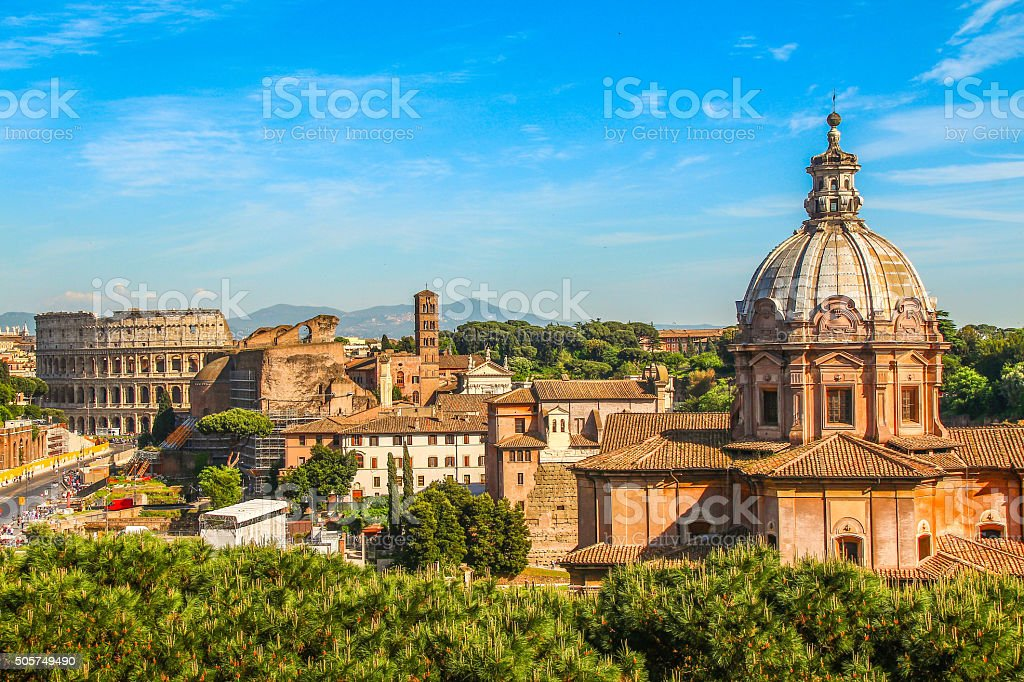 Roman Forum in Rome, South Italy stock photo