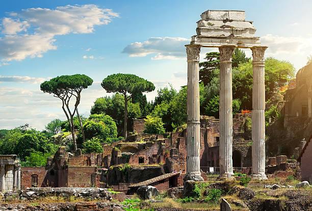 Roman Forum, Italy Roman ruins in Rome, Forum roman forum stock pictures, royalty-free photos & images