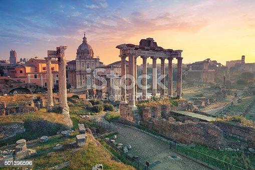 istock Roman Forum. 501396596
