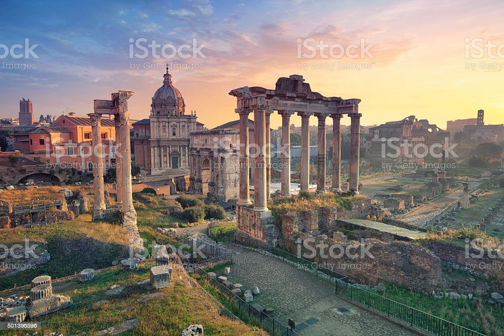 Roman Forum. stock photo