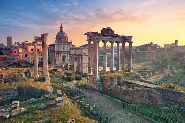 roman forum. - roman stock photos and pictures