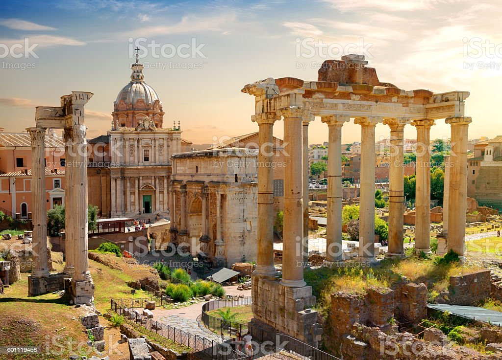 Roman Forum stock photo