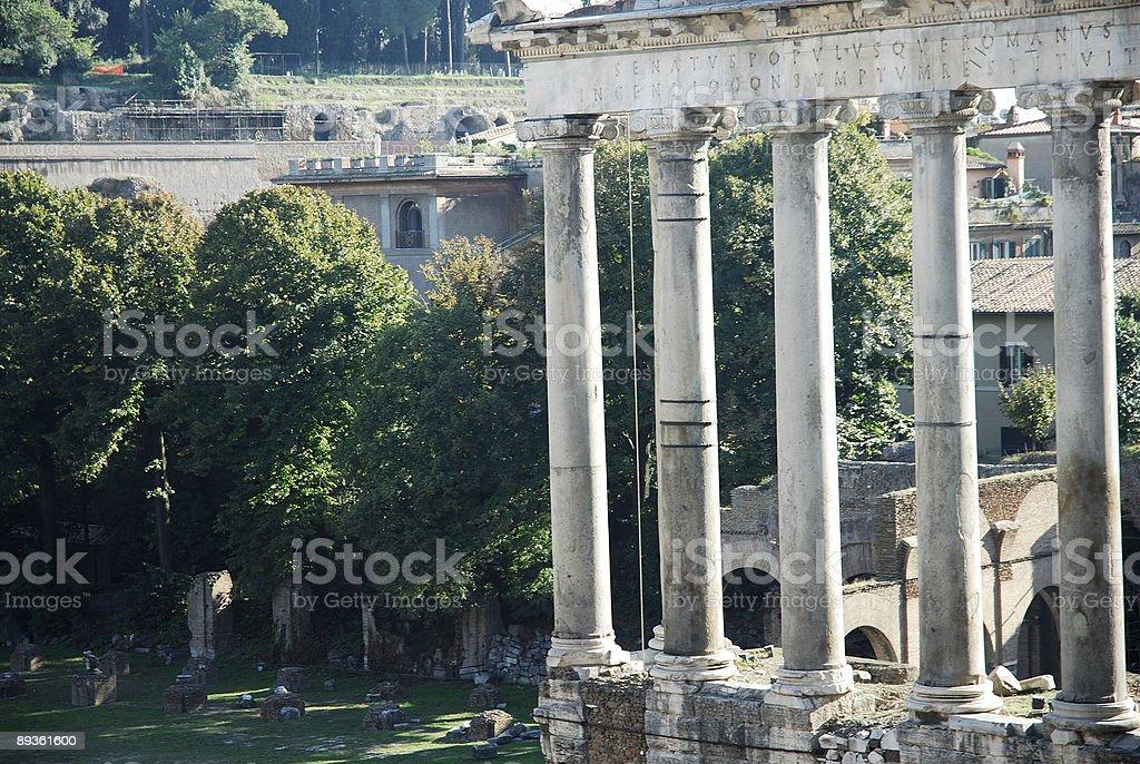 Roman Forum royaltyfri bildbanksbilder