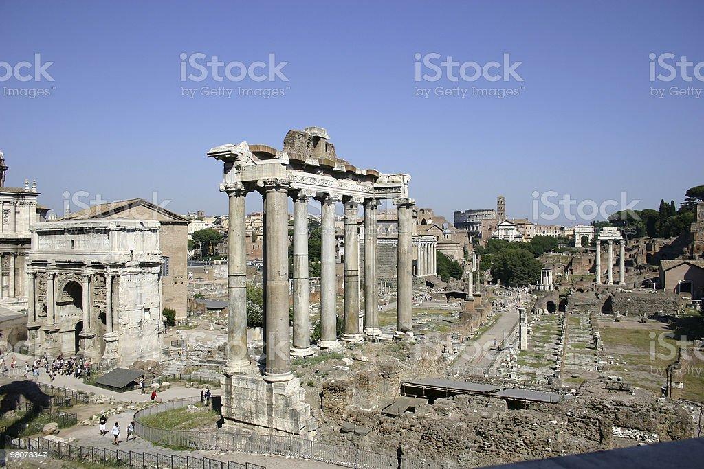 Roman 포럼 royalty-free 스톡 사진