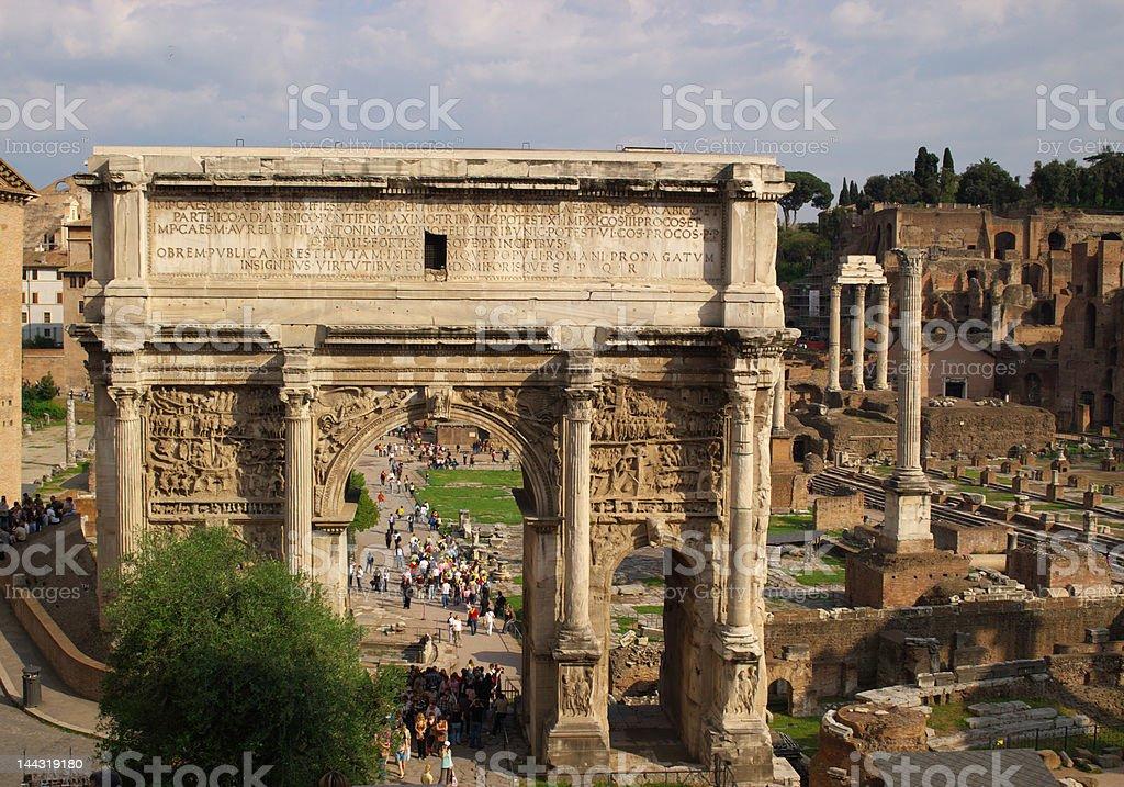 roman forum ruins royalty-free stock photo