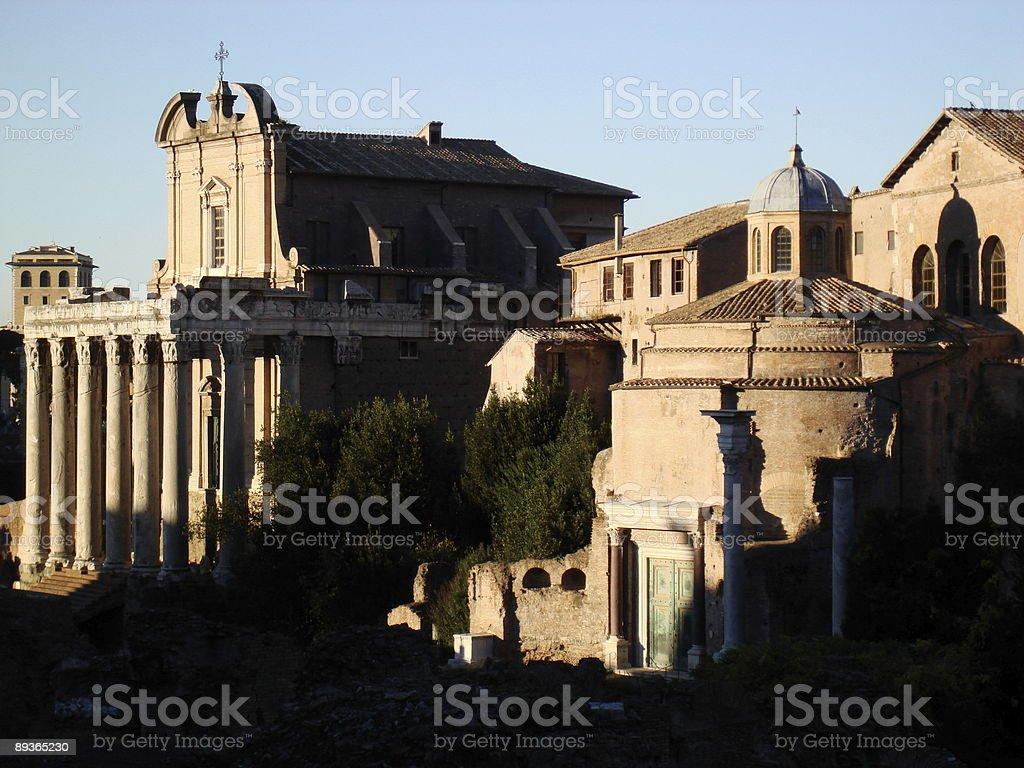 Forum romain Section photo libre de droits