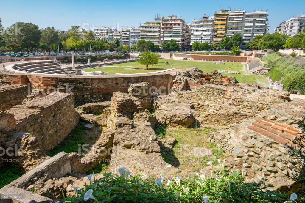 Roman Forum. Thessaloniki, Macedonia, Greece stock photo