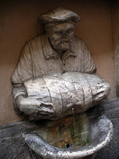 Roman Fountain stock photo