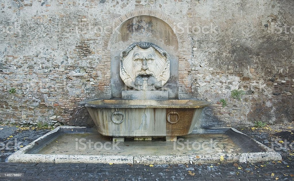 roman fountain royalty-free stock photo