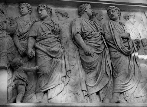 Roman Frieze. Ara Pacis, Rome, 9 AD