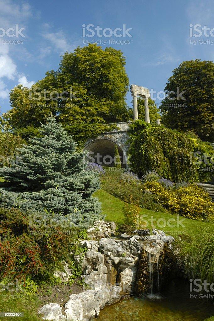 Roman gardens royalty-free stock photo
