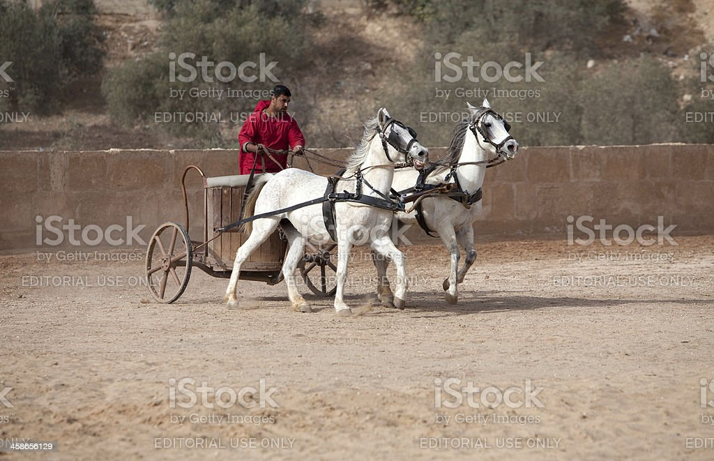 Roman General in his chariot - Jerash, Jordan stock photo
