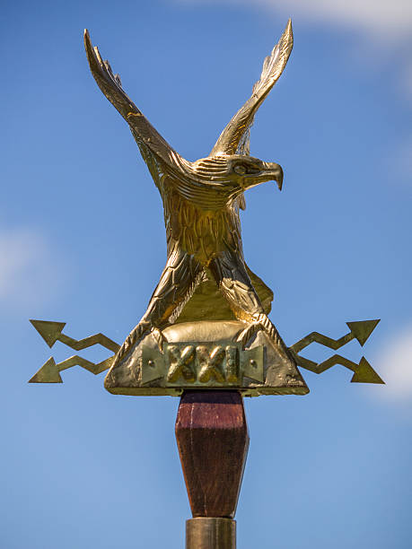 Roman gold eagle stock photo