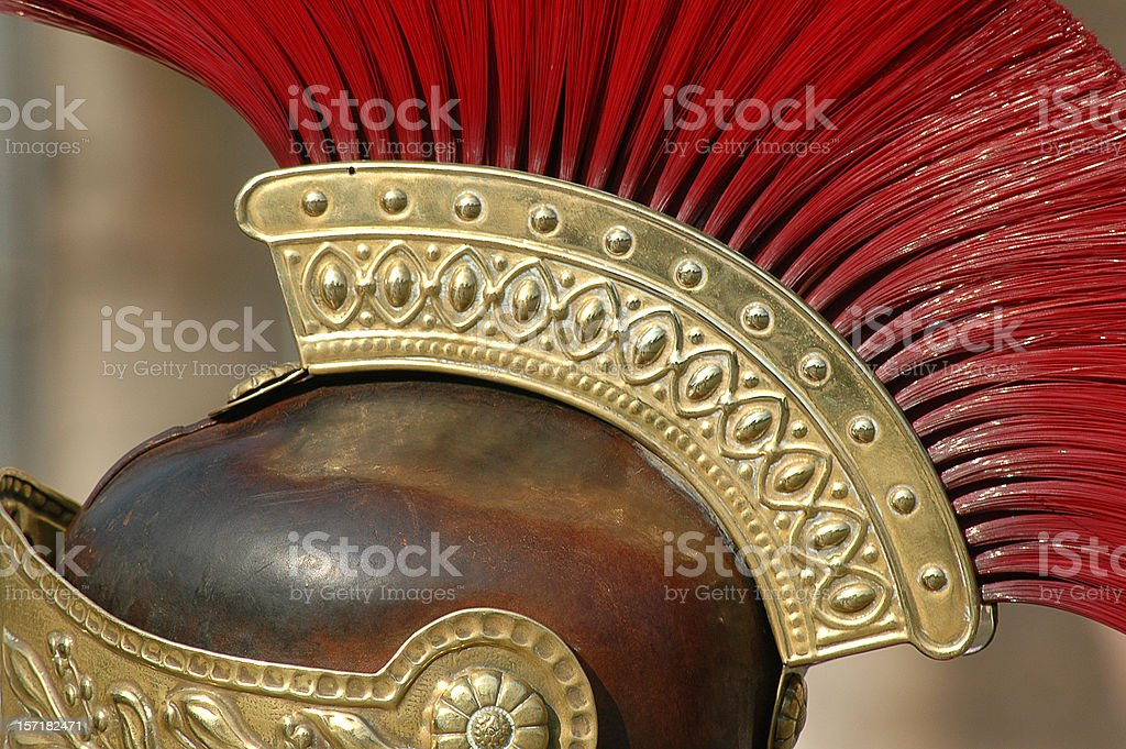 Roman Helmet stock photo