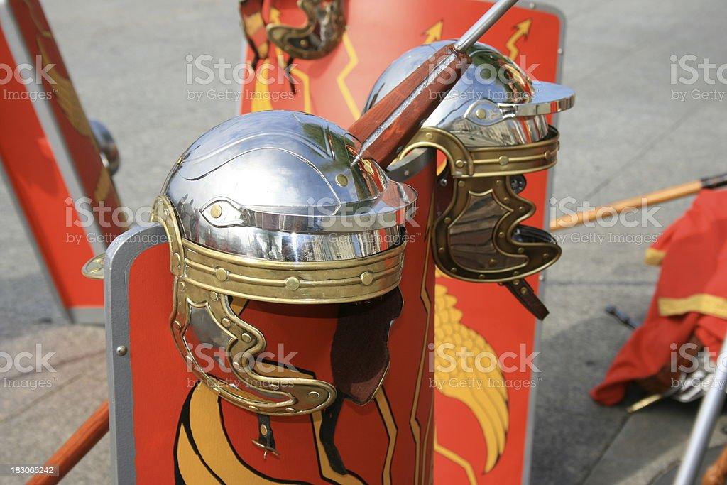 roman helmets royalty-free stock photo
