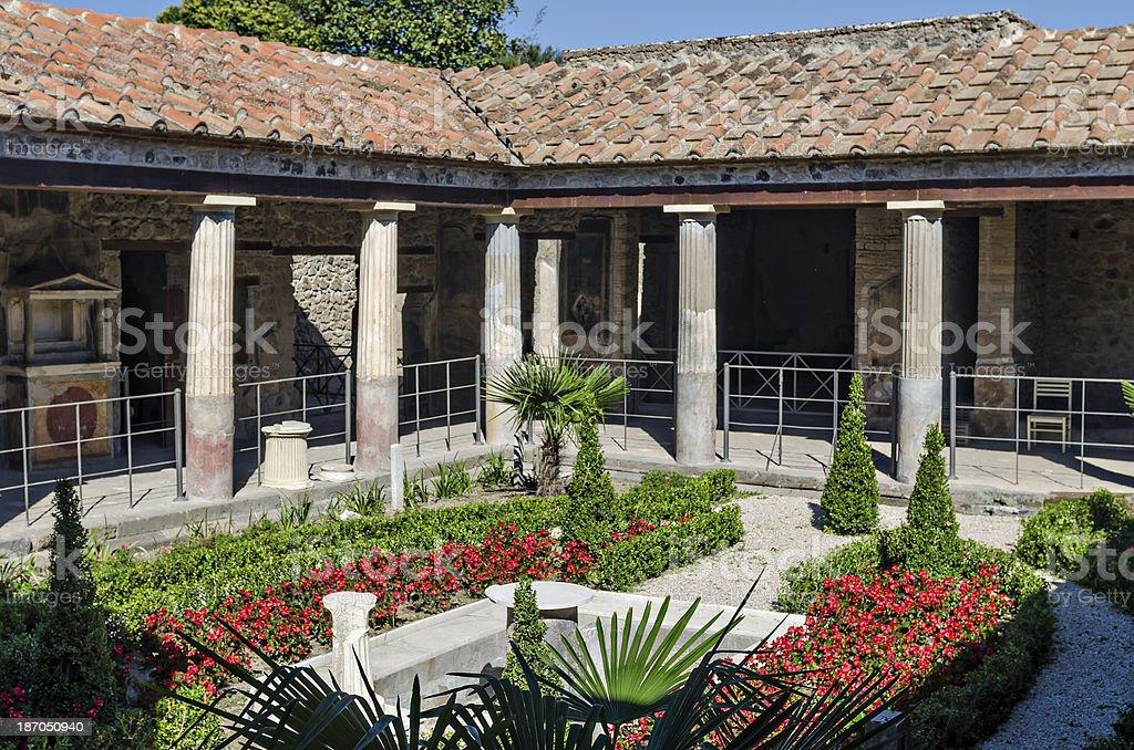 Roman house in Pompeii stock photo