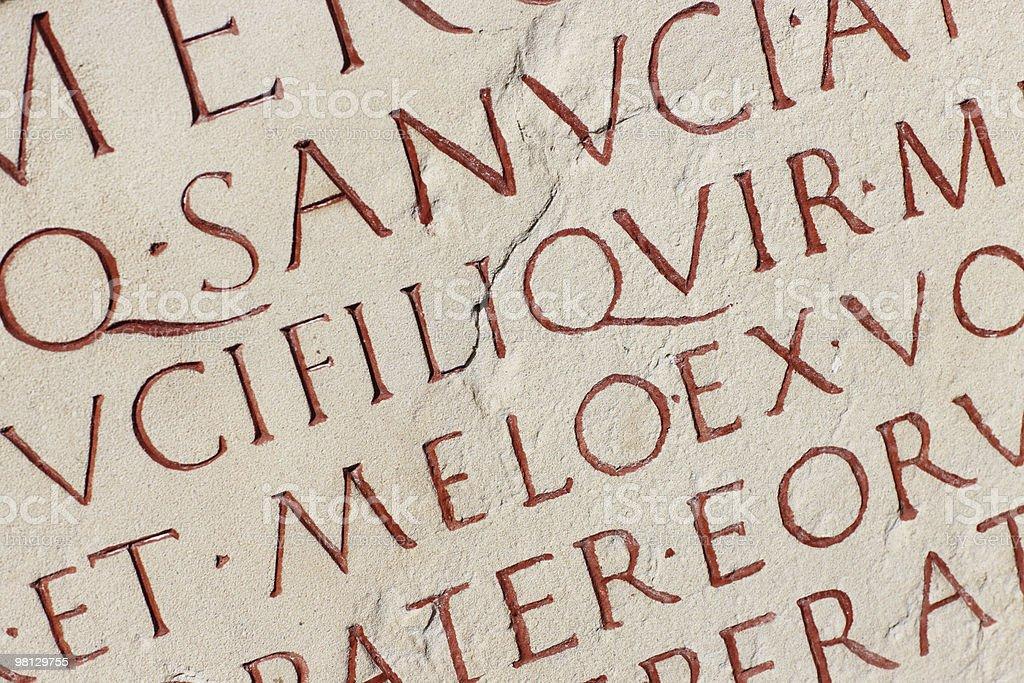 Roman Inscription royalty-free stock photo