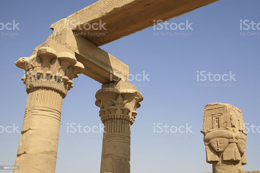 Roman Kiosk of Quertassi, Kalabsha, near Aswan, Upper Egypt royalty-free stock photo