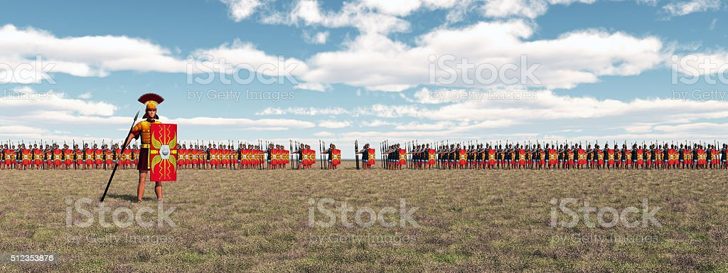 Roman legion stock photo