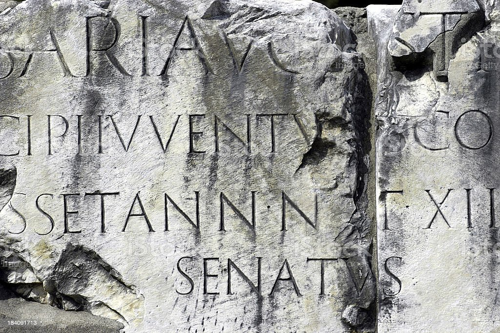 Roman letters royalty-free stock photo