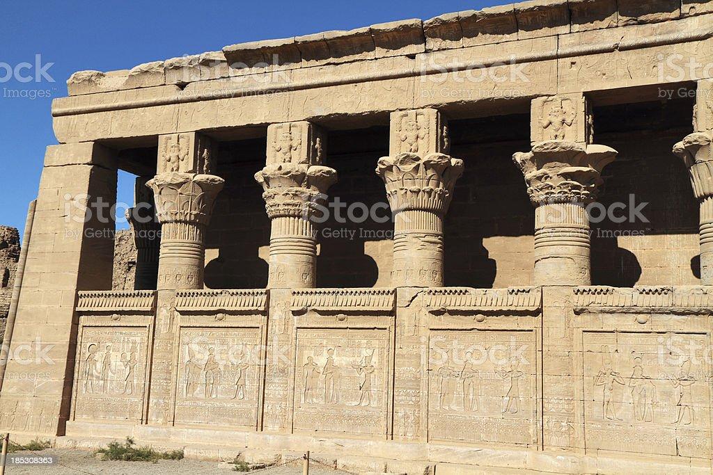 Roman Mammisi, Temple of Hathor, Dendera, Egypt stock photo