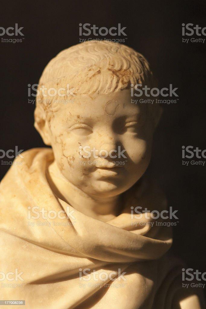Roman marble statue stock photo