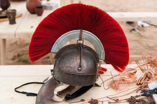 Roman military helmet
